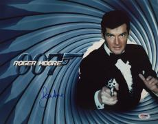 Roger Moore Signed James Bond '007' 11x14 Photo *The Original J. Bond* PSA 90584