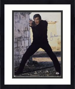 Roger Moore Signed James Bond '007' 16x20 Photo *The Original J. Bond* PSA 45552