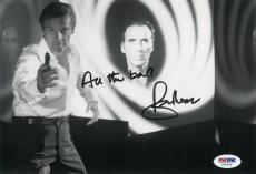 Roger Moore Signed James Bond 007 Autographed 6.5x9.5 Photo (PSA/DNA) #U49945
