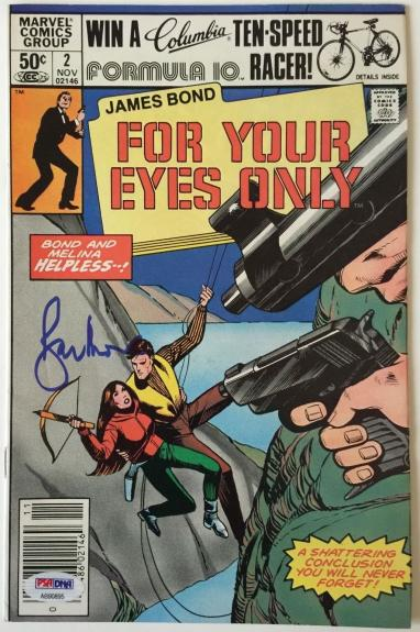 ROGER MOORE Signed JAMES BOND 007 For Your Eyes Only Comic Book #2 PSA/DNA COA