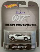 ROGER MOORE Signed James Bond 007 LOTUS ESPRIT S1 Hot Wheel *#001* /007 PSA