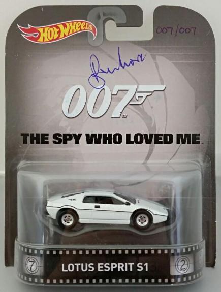 ROGER MOORE Signed James Bond 007 LOTUS ESPRIT S1 Hot Wheel *#007* /007 PSA
