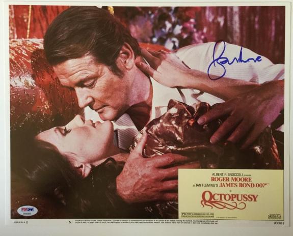 ROGER MOORE Signed JAMES BOND 007 OCTOPUSSY Original Lobby Card PSA/DNA COA A
