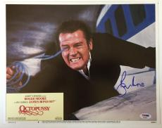 ROGER MOORE Signed JAMES BOND 007 OCTOPUSSY Original Lobby Card PSA/DNA COA B