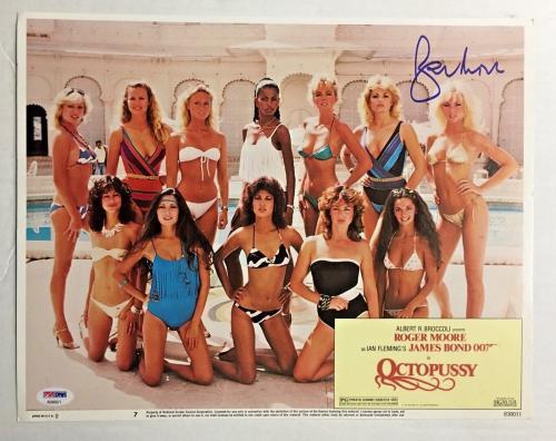 ROGER MOORE Signed JAMES BOND 007 OCTOPUSSY Original Lobby Card PSA/DNA COA C
