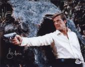 Roger Moore Signed James Bond 007 Photo 11x14 - Autographed PSA DNA Witness 13