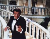 Roger Moore Signed James Bond 007 Photo 11x14 - Autographed PSA DNA Witness 18