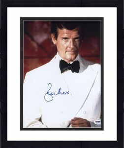 Roger Moore Signed James Bond 007 Photo 11x14 - Autographed PSA DNA 2