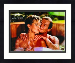 Roger Moore Signed James Bond 007 Photo 11x14 - Autographed PSA DNA 33