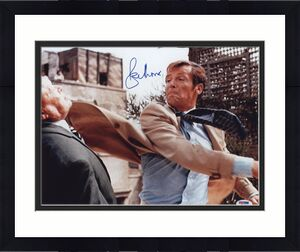 Roger Moore Signed James Bond 007 Photo 11x14 - Autographed PSA DNA 6