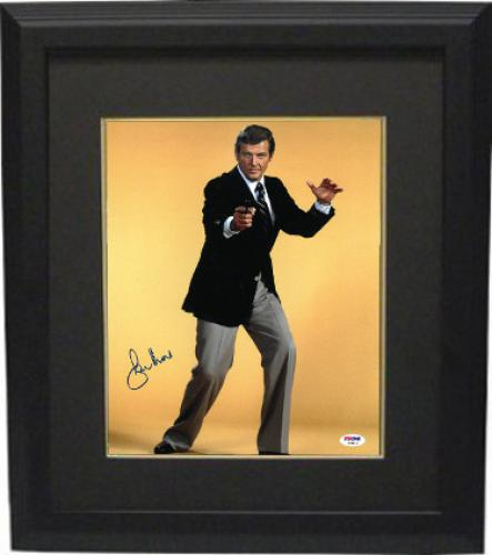 Roger Moore signed James Bond 11x14 Photo Custom Framing - PSA Hologram (entertainment/movie)
