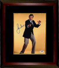 Roger Moore signed James Bond 8x10 Photo Custom Framed (yellow background)- PSA Hologram (entertainment/movie)
