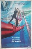 ROGER MOORE Signed JAMES BOND A VIEW TO KILL 24x36 Movie Poster PSA/DNA COA AUTO