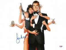 Roger Moore Signed James Bond Authentic Autographed 11x14 Photo PSA/DNA #AC17382