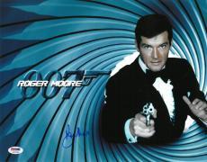 Roger Moore Signed James Bond Authentic Autographed 11x14 Photo PSA/DNA #AC17384