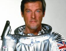 Roger Moore Signed James Bond Authentic Autographed 11x14 Photo PSA/DNA COA
