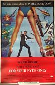 ROGER MOORE Signed JAMES BOND FOR YOUR EYES ONLY 24x36 Movie Poster PSA COA AUTO