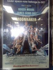 "Roger Moore Signed James Bond ""Moonraker"" 24x36 Movie Poster Auto PSA/DNA COA"