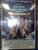 "Roger Moore Signed James Bond ""Moonraker"" 24x36 Movie Poster Auto PSA/DNA COA"
