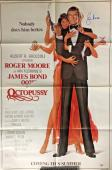 ROGER MOORE Signed JAMES BOND OCTOPUSSY 21.5x32.5 Movie Poster PSA/DNA COA AUTO
