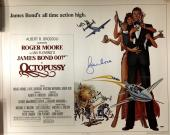ROGER MOORE Signed JAMES BOND OCTOPUSSY 22x28 Movie Poster PSA/DNA COA AUTO