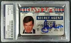 ROGER MOORE Signed License to Kill ID Card Replica Prop PSA/DNA #83912444