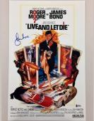 ROGER MOORE Signed LIVE & LET DIE James Bond 11x17 Movie Poster BAS Beckett COA
