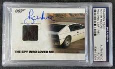ROGER MOORE Signed Lotus Esprit S1 Carpet Card AUTO The Spy Who Loved Me PSA