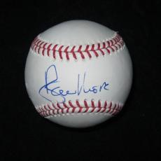 Roger Moore Signed Mlb Baseball James Bond 007 Jsa Coa