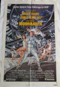Roger Moore Signed Moonraker Autographed Original Movie Poster PSA/DNA #AA24179