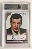 Roger Moore Signed The Roger Moore Coll. 007/040 2016 Leaf Bgs 10 Gem Mint Auto