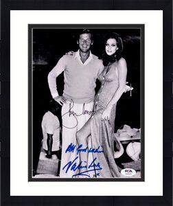 Roger Moore Valerie Leon PSA DNA Signed 8x10 JameS Bond 007 Photo Autograph