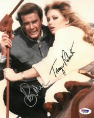 Roger Moore/Tanya Roberts Signed A View to A Kill James Bond 8x10 Photo PSA/DNA