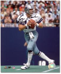 "Roger Staubach Dallas Cowboys Autographed 8"" x 10"" Drop Back Photograph"