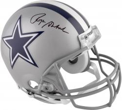 Roger Staubach Dallas Cowboys Autographed Pro-Line Riddell Authentic Helmet - Mounted Memories
