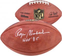 Roger Staubach Autographed Duke Pro Football with HOF 85 Inscription