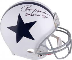"Roger Staubach Dallas Cowboys Autographed Proline Helmet with ""America's Team"" Inscription"