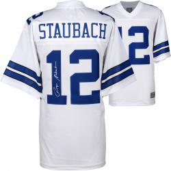 Roger Staubach Dallas Cowboys Autographed Proline White Jersey