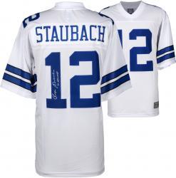 Roger Staubach Dallas Cowboys Autographed Proline White Jersey with 1971 NFL MVP Inscription
