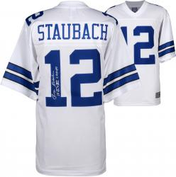 Roger Staubach Dallas Cowboys Autographed Proline White Jersey with VI and XII SB Champs Inscription