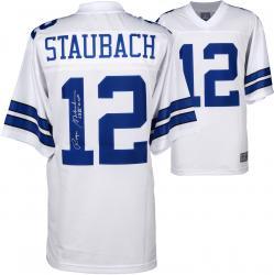 Roger Staubach Dallas Cowboys Autographed Proline White Jersey with SB VI MVP Inscription
