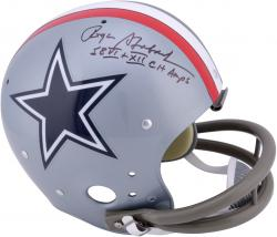 Roger Staubach Dallas Cowboys Autographed TK Suspension Helmet with VI and XII SB Champs Inscription