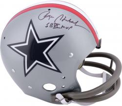 Roger Staubach Dallas Cowboys Autographed TK Suspension Helmet with SB VI MVP Inscription