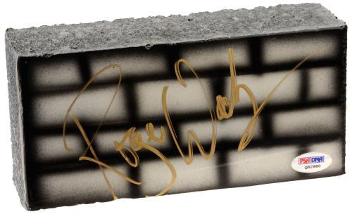 "Roger Waters Autographed 4"" x 8"" Pink Floyd Brick  - PSA/DNA COA"