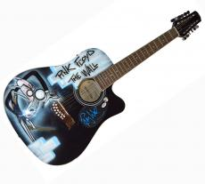 Roger Waters Autographed Airbrushed The Wall Acoustic Guitar AFTAL UACC RD COA P