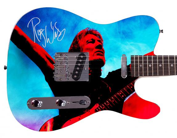 Roger Waters Facsimile Autographed Custom Graphics Guitar