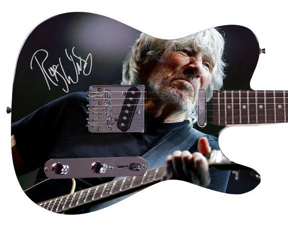 Roger Waters  Facsimile Signature Custom Graphics Guitar