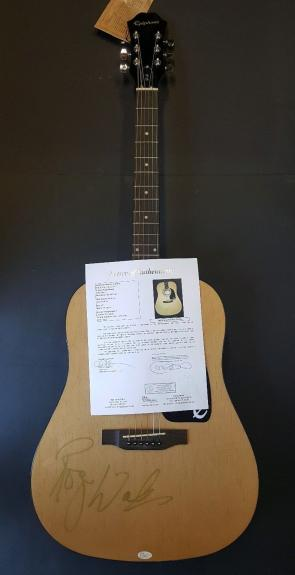 ROGER WATERS Pink Floyd Autographed Guitar. JSA