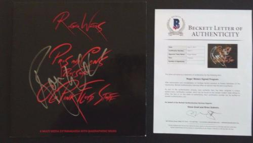 Roger Waters Pink Floyd Pros Cons Autographed Signed LP Book Beckett Certified