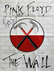 Roger Waters Pink Floyd Signed 21x28 The Wall Poster BAS #A09803